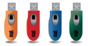 Vector del mecanismo impulsor del flash del USB Foto de archivo libre de regalías