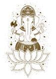 Vector del mehndi de Ganesha Fotografía de archivo libre de regalías