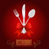 Vector del menú de la vendimia Imagenes de archivo