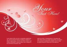 Vector del modelo de la tarjeta del día de San Valentín Fotos de archivo