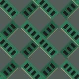 Vector del modelo de los módulos de la RAM Fotografía de archivo