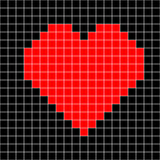 Vector del modelo del corazón del punto de cruz stock de ilustración