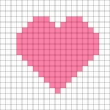 Vector del modelo del corazón del punto de cruz ilustración del vector