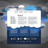 Vector del modelo del Web site Imagen de archivo libre de regalías
