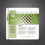 Vector del modelo del Web site Imágenes de archivo libres de regalías