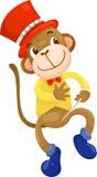 Vector del mono del circo Fotografía de archivo libre de regalías