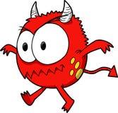 Vector del monstruo del diablo Fotografía de archivo