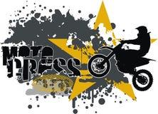 Vector del motocrós Foto de archivo libre de regalías