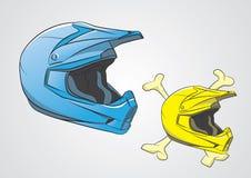 Motocrós de los cascos Imagen de archivo