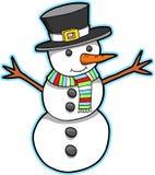 Vector del muñeco de nieve del día de fiesta libre illustration