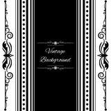 Vector del negro del diseño del marco del fondo del vintage Foto de archivo