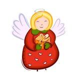 Vector del ángel de la Navidad Imagen de archivo libre de regalías