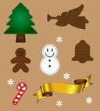 Vector del objeto de la Navidad Imagen de archivo libre de regalías