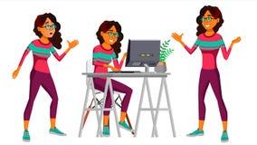 Vector del oficinista Mujer Vendedor feliz, criado, empleado Ser humano del negocio árabe saudi Emociones de la cara, diversas libre illustration