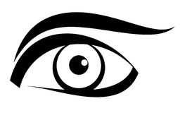 Vector del ojo Imagen de archivo libre de regalías