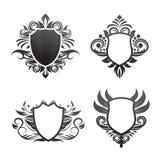 Vector determinado del ornamento del escudo Imagen de archivo libre de regalías
