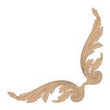 Vector del ornamento en el estilo barroco para afiligranado stock de ilustración