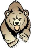 Vector del oso de Brown del grisáceo Fotografía de archivo