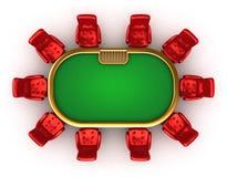Vector del póker con la opinión superior de las sillas libre illustration