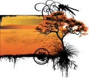 Vector del paisaje Fotografía de archivo libre de regalías