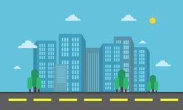 Vector del paisaje de la ciudad y de la calle Foto de archivo