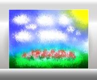Vector del paisaje de la imagen Imágenes de archivo libres de regalías