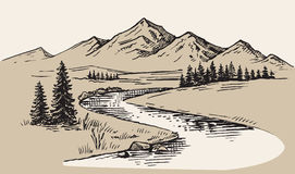 Vector del paisaje de la montaña libre illustration