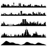 Vector del paisaje urbano del horizonte de la ciudad Foto de archivo libre de regalías