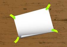 Vector del papel de nota Imagen de archivo libre de regalías