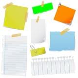 Vector del papel de nota