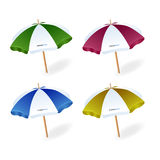 Vector del parasol de playa Imagenes de archivo
