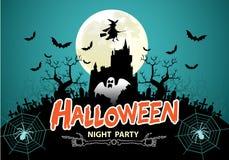 Vector del partido de la noche de Halloween Fotografía de archivo libre de regalías