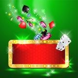Vector del partido del casino ¡Triunfo grande! Fotografía de archivo