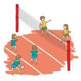Vector del partido del voleibol Fotos de archivo libres de regalías