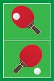 Vector del ping-pong de los tenis de mesa Imagen de archivo libre de regalías