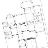 Vector del plan de la casa Fotos de archivo