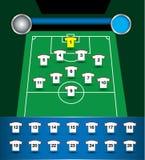 Vector del plan del equipo de fútbol Fotos de archivo libres de regalías