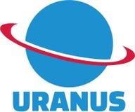 Vector del planeta de Urano ilustración del vector