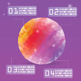 Vector del polígono de Coloyful infographic Fotos de archivo libres de regalías