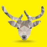 Vector del polígono de los ciervos Fotografía de archivo libre de regalías