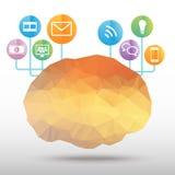 Vector del polígono del cerebro Foto de archivo libre de regalías