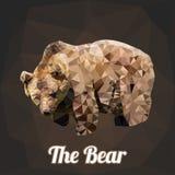Vector del polígono del oso Foto de archivo