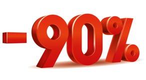 Vector del porcentaje, -90 Fotografía de archivo