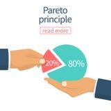Vector del principio de Pareto Fotografía de archivo