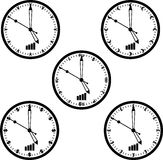 Vector del reloj de la moneda del mundo Foto de archivo