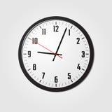 Vector del reloj de pared Imagen de archivo libre de regalías