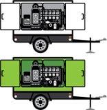 Vector del remolque del generador libre illustration