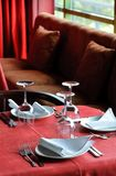 Tabla del restaurante foto de archivo libre de regalías