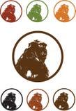 Vector del retrato del ejemplo del gorila del mono Fotografía de archivo libre de regalías