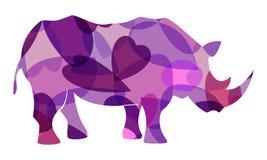 Vector del rinoceronte colorido fotografía de archivo